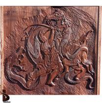 تصویر از تخته نرد رستم و اژدها (طرح استاد فرشچیان)