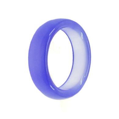 حلقه سنگی عقیق آبی