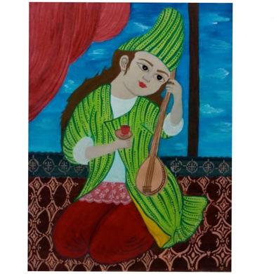 تابلو نقاشی دختر ایرانی