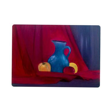 تصویر از تابلو رنگ و روغن میوه و کوزه