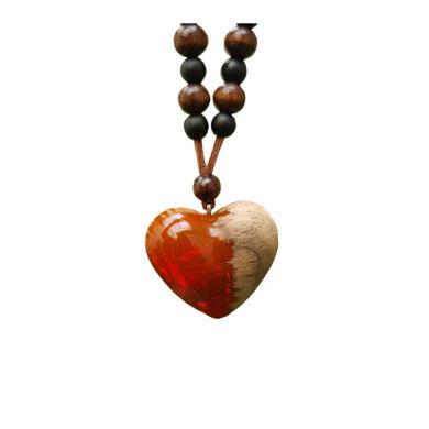 تصویر از گردنبند قلب رزینی