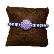 تصویر از دستبند ارغوانی صدفی فیمو، مدل O2، گروه دست سازه های طلایی