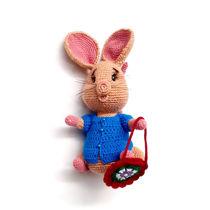 تصویر از عروسک موش بافتنی