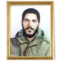 نقاشی چهره شهید ابراهیم هادی