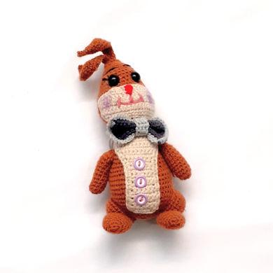 تصویر از عروسک خرگوش بافتنی