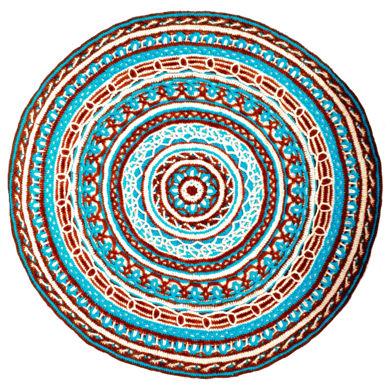 تصویر از رومیزی بافتنی