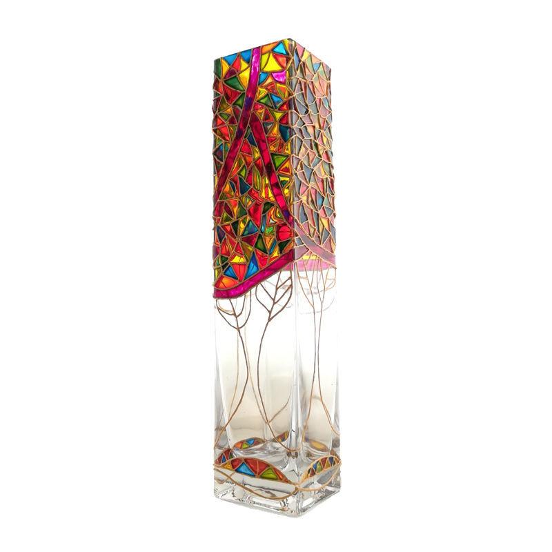 گلدان فانتزی رنگی کد V78
