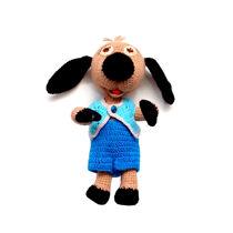 تصویر از عروسک سگ بافتنی