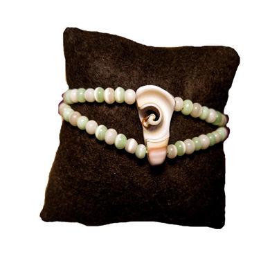 تصویر از دستبند صدف چشم گربه ای، مدل O6، گروه دست سازه های طلایی