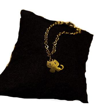 تصویر از بندساعت استیل گربه ملوس طلایی، مدل L2، گروه دست سازه های طلایی