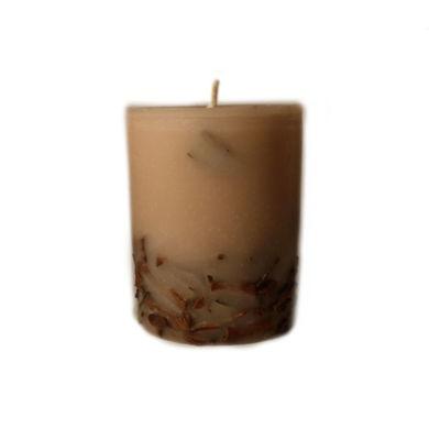 تصویر از شمع استوانه ای مدل دارچین