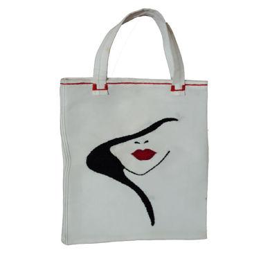 کیف خرید گلدوزی شده طرح فانتزی دخترونه😍سایز26.31cmاندازه دسته15cm