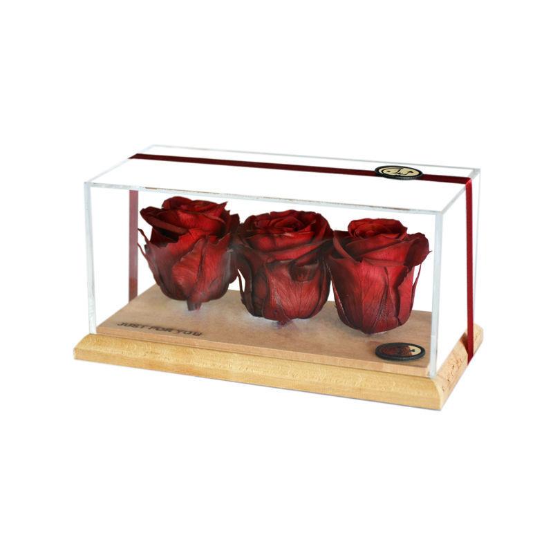 تصویر از باکس سه تایی رز جاودان