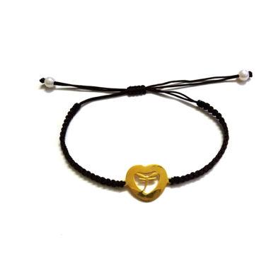تصویر از دستبند قلبی رنگ ثابت