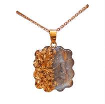تصویر از طرح سنگ مرمر طلایی با ورق طلا/ دالبری شکل