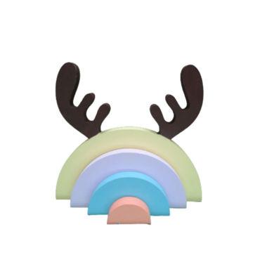 تصویر از رنگین کمان چوبی