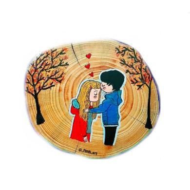 تصویر از دیوارکوب چوبی