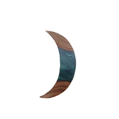 تصویر از گردنبند چوب و رزین W3