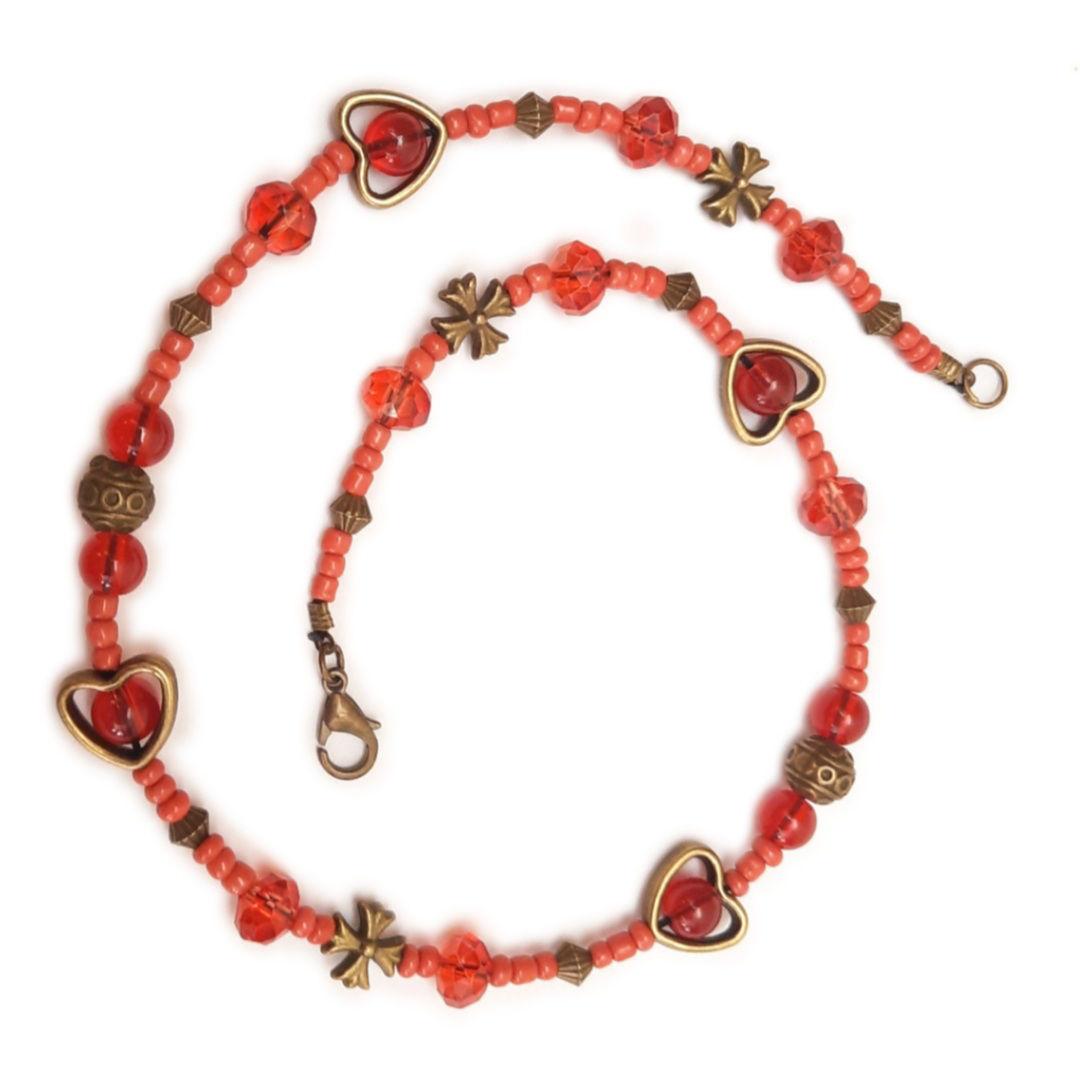 دستبند قلب قرمز