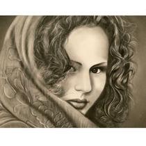 تصویر از طراحی چهره با سیاه قلم
