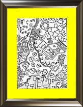 تصویر از تابلو نقاشی دودلینگ (doodling) - نام اثر: میز کار من