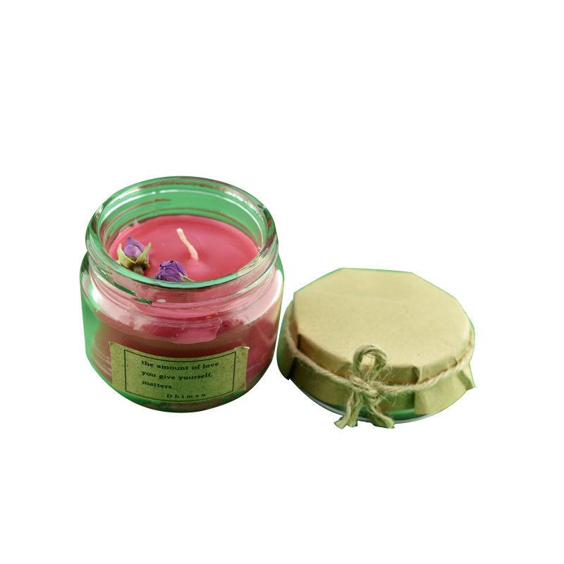 تصویر از شمع شیشه ای