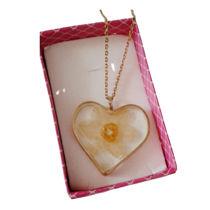 تصویر از گردنبند گل نرگس قلب
