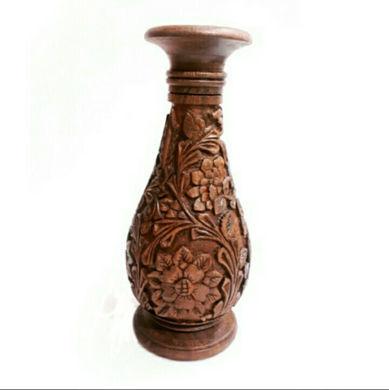 تصویر از گلدان منبت شده